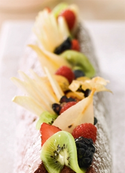 Fresh Fruit Christmas Log