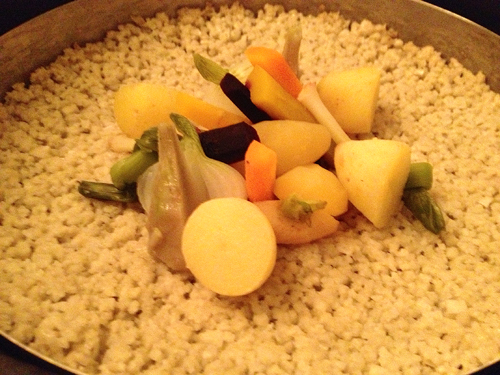 Meurice Salt-baked vegetables