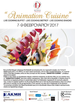 Alain Ducasse Education. Animation Cuisine