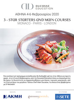 Alain Ducasse Education. 3-Star Starters & Main Courses